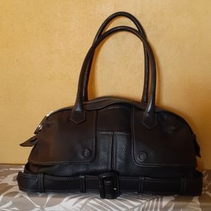 Jean Paul Gautier black leather hand bag